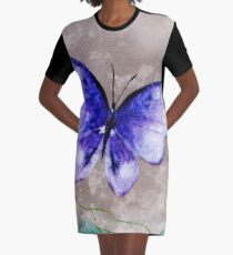 Butterfly Whimsy Graphic T-Shirt Dress
