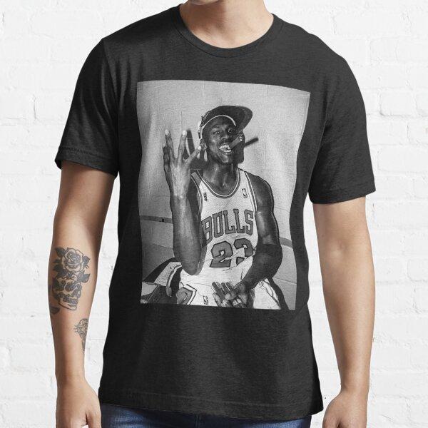 90er Jahre Vintage Michael Jordan Drei-Torf Schwarz-Weiß Classic T-Shirt Essential T-Shirt