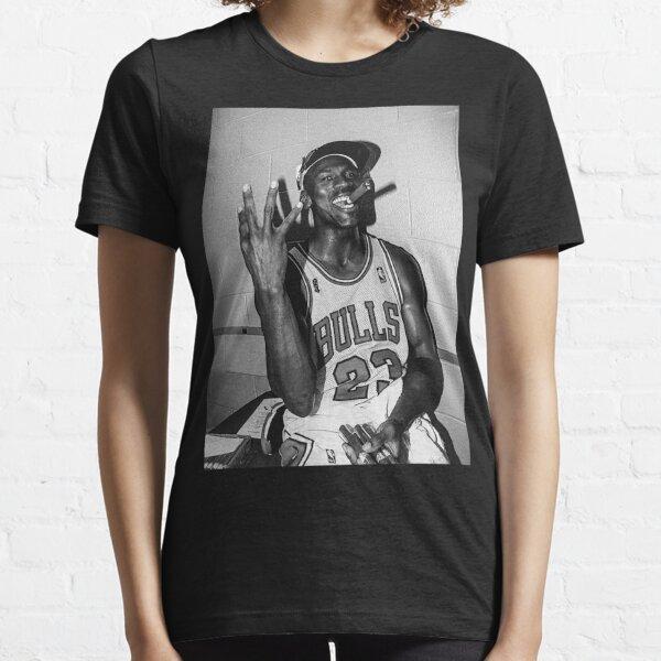 90's vintage Michael Jordan Three-peat Black and White Classic T-Shirt Essential T-Shirt