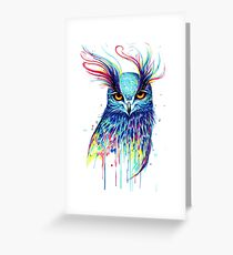 Mystical Owl Greeting Card