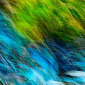 Splashing down the rocks by RichardKeech