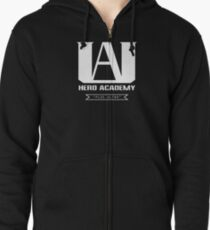 U.A. High Plus Ultra logo - (My Hero Academia, Boku no Hero Academia, BNHA) Zipped Hoodie