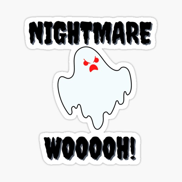 Nightmare Ghost - Halloween Sticker
