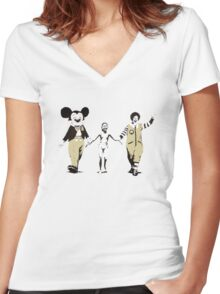 Banksy - Napalm Women's Fitted V-Neck T-Shirt