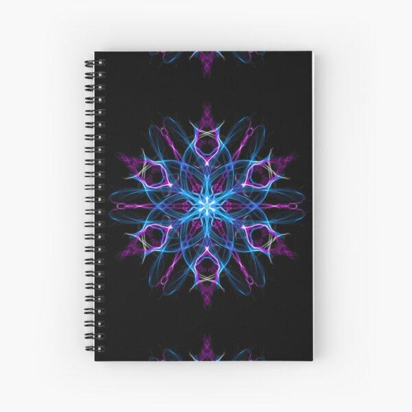 Lotus Heart Chakra Meditation -  Sacred Geometry Intuitive Energy Mandala. Spiral Notebook