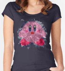 Kirby Splatter Women's Fitted Scoop T-Shirt
