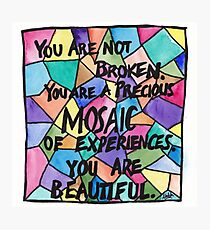 Precious Mosaic Photographic Print