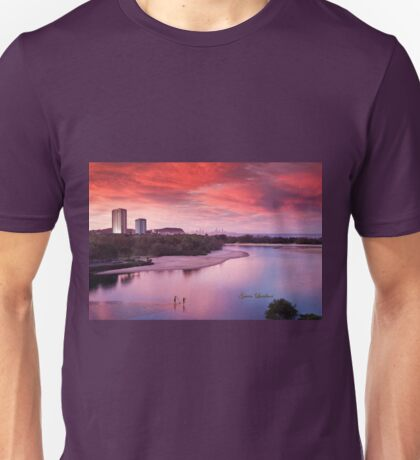 Red sunset, blue planet T-Shirt
