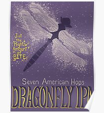 Dragonfly IPA Beer Logo Poster
