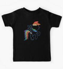 Sprayed Rainbow Dash Kids Clothes