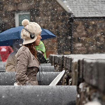 Snowing view by RichardKeech