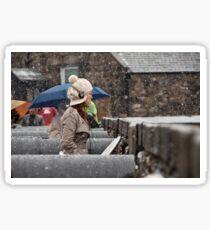 Snowing view Sticker