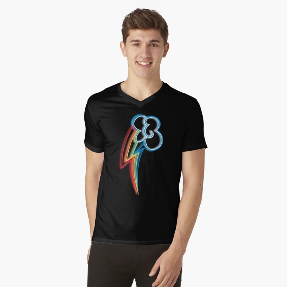 Rainbow Dash Cutie Mark Mens V-Neck T-Shirt Front