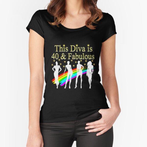 40.o cumpleaños, Glam Goddess Camiseta entallada de cuello ancho
