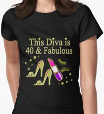 GOLD SPARKLING FABULOUS 40TH DESIGN Women's Fitted T-Shirt