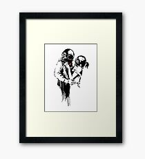 Banksy - Think Tank Framed Print