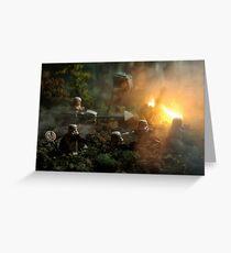 Star Wars Empire AT War jungle city Greeting Card