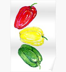Three Peppers Art 2 Poster