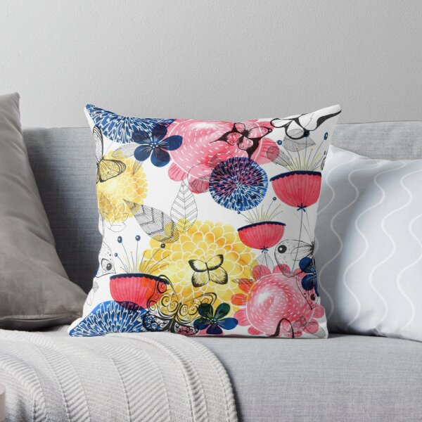 Floral Dreaming Throw Pillow
