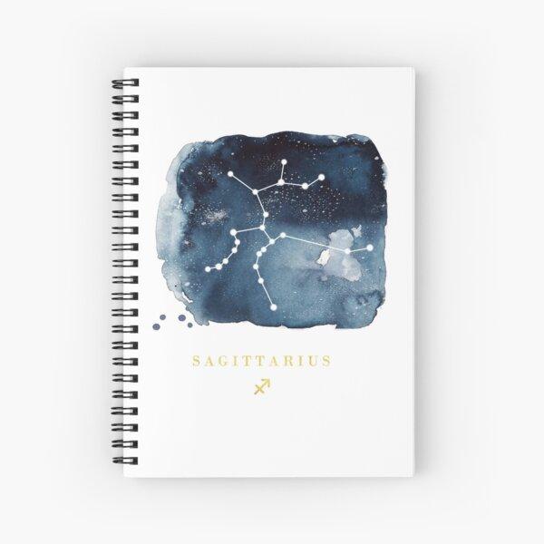 Sagittarius Zodiac Constellation  Spiral Notebook