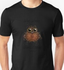 Barista Coffee Owl Unisex T-Shirt