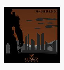 Minimalist Halo Reach Poster Photographic Print