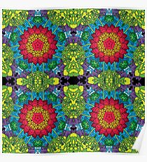 Psychedelic LSD Trip Ornament 0013 Poster