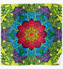 Psychedelic LSD Trip Ornament 0014 Poster
