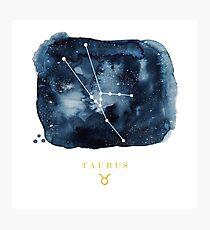 Taurus Zodiac Constellation Photographic Print