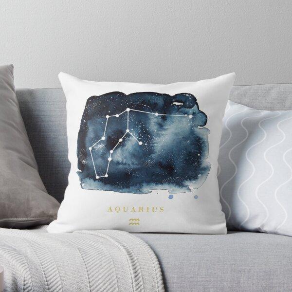 Aquarius Zodiac Constellation Throw Pillow