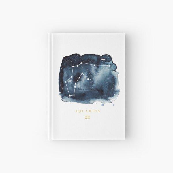 Aquarius Zodiac Constellation Hardcover Journal