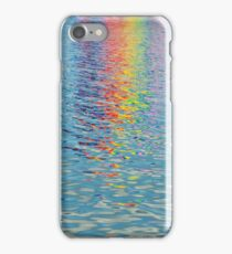Rainbow colours reflected in the canals. iPhone Case/Skin