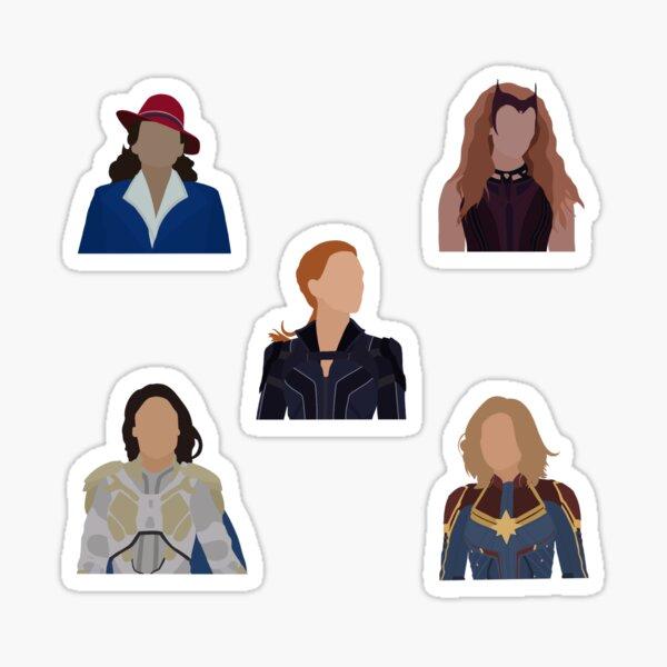 Super Heroines Sticker Pack Sticker