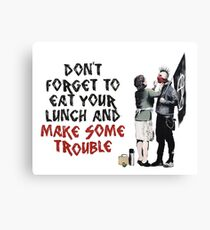 Banksy - Mother and Son Canvas Print