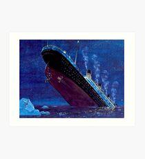 Titanic Sinking Art Print