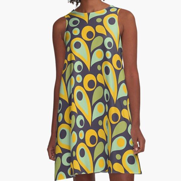 Retro Parsley Summer Pattern  A-Linien Kleid
