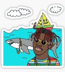 LIL YACHTY / LIL BOAT - HAPPY DRAWING Sticker