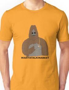 smoking yeti  Unisex T-Shirt