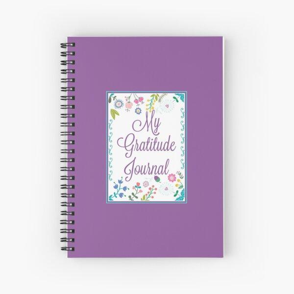 My Gratitude Journal : Floral, Mauve title. Plus bonus eBook (link in design description) - Vicki Hadfield, The Happiness Ambassador Spiral Notebook