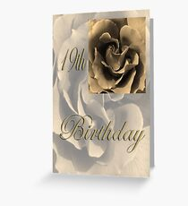 Happy 19th Birthday Rose in Sepia Greeting Card
