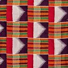 Colours of Africa (18) of a series of African Colours, KENTE of the Ashanti and Ewe in Ghana by Remo Kurka