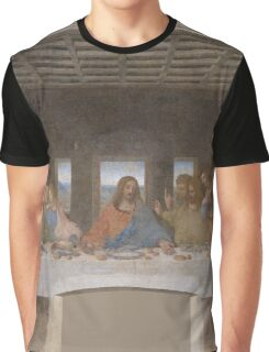 The Last Supper by Leonardo Da Vinci (c. 1498) Graphic T-Shirt