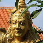 Golden Head of the God Shiva in Bali by Keith Richardson