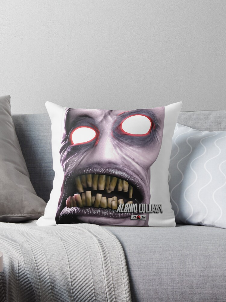 """Albino Lullaby - """"Cornelius"""" - Official Throw Pillows by ApeLaw"""