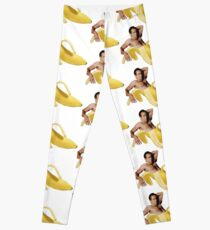 Nicolas Cage In A Banana - Original Yellow Leggings