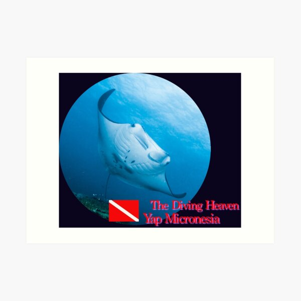 The Diving Heaven. Art Print