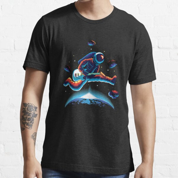 Playing Guitar in Space, funny astronomy, funny Space science, funny astronaut Playing Guitar in Space gift Essential T-Shirt