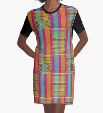 Colours of Africa (22) of a series of African Colours, KENTE of the Ashanti and Ewe in Ghana Graphic T-Shirt Dress