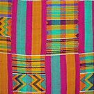 Colours of Africa (22) of a series of African Colours, KENTE of the Ashanti and Ewe in Ghana by Remo Kurka