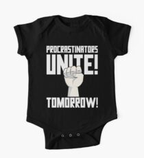 Procrastinators Unite Tomorrow T Shirt One Piece - Short Sleeve